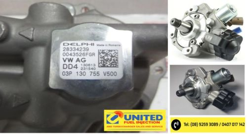 28334239 DELPHI COMMON RAIL DIESEL PUMP. 03P130755 VW 1.2 TDI. BRAND NEW